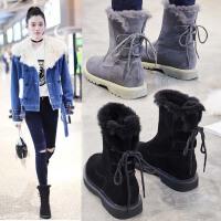 雪地靴女短筒2018新款韩版百搭学生平底短靴冬季加绒保暖加厚棉鞋