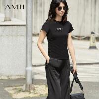 【预估价67元】Amii《创业时代》Angelababy 杨颖剧中同款修身字母短袖T恤