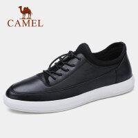 【下单立减120元】camel 骆驼男鞋春夏新款鞋黑白时尚轻盈柔软耐折牛皮板鞋