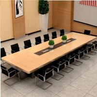 美立居工坊洽谈桌长条桌MLJ-HZ35板式会议桌4米