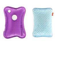 充电热水袋暖宝宝电暖宝暖手宝暖水袋双插手可拆洗已注水