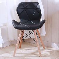 御目 椅子 现代简约书桌椅家用书房餐厅靠背椅电脑椅凳子休闲椅实木北欧餐椅办公椅子 创意家具