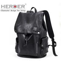 赫登尔双肩包男士潮流背包时尚休闲学生书包电脑包潮男韩版旅行包