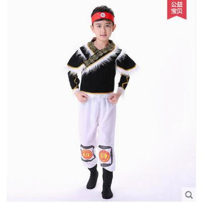 藏族黎族壮族蒙古族表演服饰演出服儿童少数民族舞蹈演出服装支持礼品