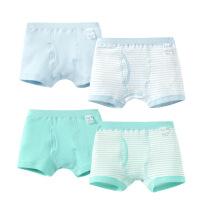 儿童内裤 男童平角内裤三角内裤四条盒装宝宝内裤