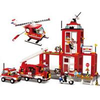 小鲁班 拼插积木 急速火警系列 119消防中心 模型玩具