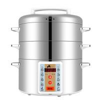 电蒸锅不锈钢三层电火锅电蒸笼预约定时多功能