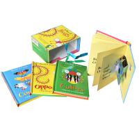 顺丰发货 A box of bugs 一盒子虫子 英文原版儿童趣味昆虫认知启蒙立体书4本盒装