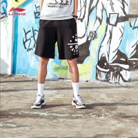 李宁短裤卫裤男士篮球系列吸湿纯棉短装夏季运动裤AKSM171