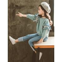 童装女童秋装套装儿童时尚潮衣洋气中大童秋季两件套