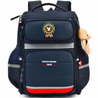 迪士尼小学生书包 男童背包 0606学院风双肩包 多层休闲包