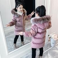 女童棉衣冬装中大童外套冬季儿童中长款棉袄