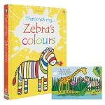 Usborne That's Not My Zebra's Colours 斯伯恩图书看斑马识颜色 儿童英语启蒙 洞洞