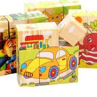 3d立体木质拼图六面画男孩女孩宝宝益智积木制儿童玩具3-4-5-6岁7
