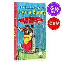 I Am a Bunny 我是一只兔子进口儿童英文原版绘本纸板书名家richard scarry幼儿英语启蒙绘本0-3