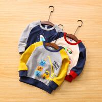 儿童卡通卫衣t恤春秋宝宝长袖上衣套头衫男童卫衣