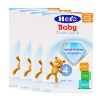 保税区直发 荷兰美素(Hero Baby)奶粉4段(12-24个月宝宝)700g四盒装