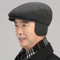 中老年人帽子男士秋冬鸭舌帽前进帽冬天棉帽老人帽爸爸爷爷老头帽