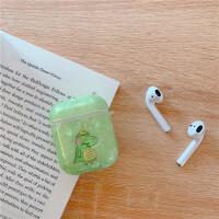 抹茶绿可爱卡通鳄鱼AirPods2苹果蓝牙耳机保护套个性创意防摔女款