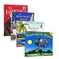 英文原版 GRUFFALO SNAIL AND THE WHALE 聪明豆系列4本套装茱莉亚唐纳森作品大开平装 儿童动