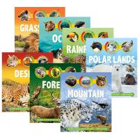 生命周期系列7册 沙漠 森林 草地 山川 海洋 极地 雨林 Life Cycles Desert 英文原版 食物链关系