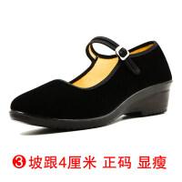 老北京布鞋女软底工作鞋女透气黑色平跟鞋布鞋妈妈鞋跳舞鞋劳保鞋