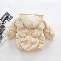 连帽羽绒服1-2-3岁男童羽绒服婴幼宝宝白鸭绒服