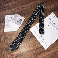 韩版潮流领带男士商务正装面试上班新郎伴郎司仪印花条纹领带