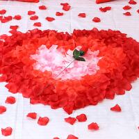 喜庆用品仿真玫瑰花瓣套餐假撒花婚房婚床装饰布置造型