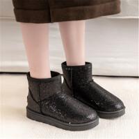 乌龟先森 雪地靴 女兔毛毛鞋真皮雪地靴加大码女靴学生冬季短靴子平底女鞋子