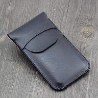 新款锤子Smartisan M1L手机套皮套保护套直插套5.7内胆袋防摔有盖 M1L黑色 有盖款