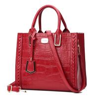 手提包女款手拎包 包包女潮手提包单肩包女戴妃包休闲软皮大容量潮ST