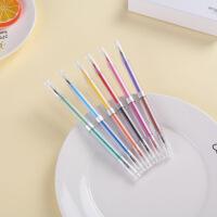 12画双头水性笔12色魔彩中性笔勾线水彩笔学生涂鸦中性笔6支盒装