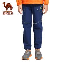 骆驼春夏中大童儿童户外快干速干裤女童休闲徒步长裤