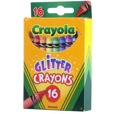 当当自营Crayola 绘儿乐 16色闪光蜡笔 52-3716