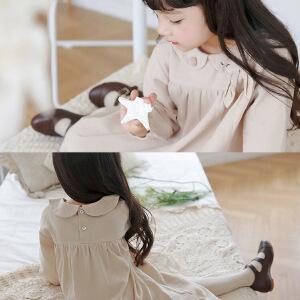 新秋装可爱兔耳朵女童娃娃领连衣裙