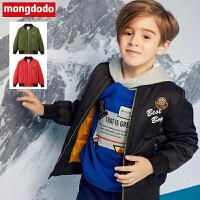 巴拉巴拉旗下梦多多男童外套2018冬装新款加厚保暖棉袄洋气夹克潮