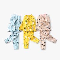 保暖加绒婴儿内衣套装1-7岁宝宝秋衣套装加绒婴儿卡通两件套