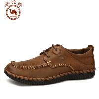 骆驼牌男鞋 秋冬新品 日常休闲皮鞋男士系带低帮手工缝制鞋