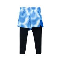 【折后叠券预估价:46】361儿童男中大童夏季新品舒适百搭运动时尚运动裤两件套K51923752