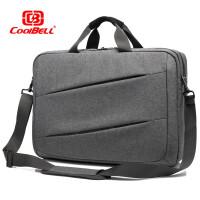 精品商务电脑包简约手提两用单肩包 大容量17寸17.3英寸笔记本包