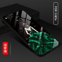 小米note3手机壳女款潮小米5x个性创意可爱防摔全包钢化玻璃硬壳