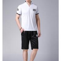 verhouse 男士运动套装夏季新款男青年休闲大码两件套短袖T恤+短裤时尚穿搭