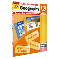 Evan-Moor Skill Sharpeners Geography Pre K 学龄前幼儿园地理练习册 美国加州