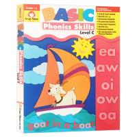 基础练习系列 自然拼读C级 一至二年级 Basic Phonics Skills Level C 英文原版 美国加州小学
