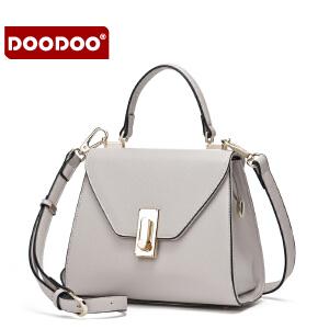 【支持礼品卡】DOODOO 小包包2018新款斜挎包百搭女士包包斜跨手提单肩包小方包潮 D6157