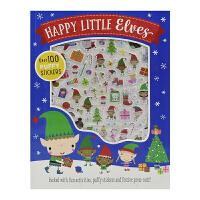 Happy Little Elves 快乐的圣诞精灵 立体泡芙贴纸 儿童益智