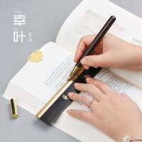 男士金属中性笔宝珠笔定制刻字 红木签字笔直尺创意套装
