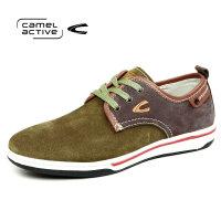 骆驼动感男士时尚日常休闲防滑耐磨反绒皮鞋