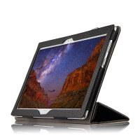 联想 TB-X804F小新平板电脑保护套真皮 安卓10.1英寸头层牛皮皮套 黑色【头层 牛皮】送钢化膜